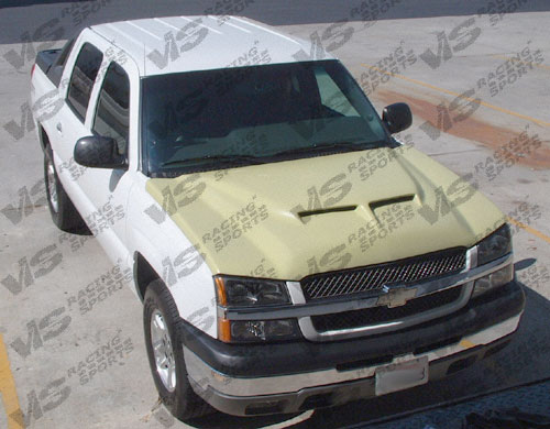 2003-2006 Chevrolet Silverado Fiber Glass Outlaw Type 2 Hood