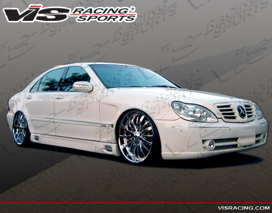 2000-2006 Mercedes S-Class W220 Long Wheelbase Laser F1 Side Skirts
